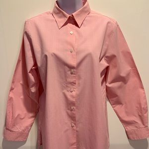FOXCROFT Pink White Check Long Sleeve Shirt